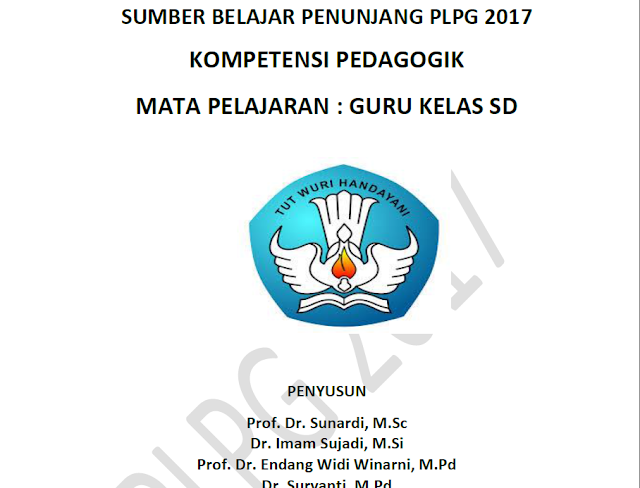 Modul Pedagogik SD Materi PLPG 2017