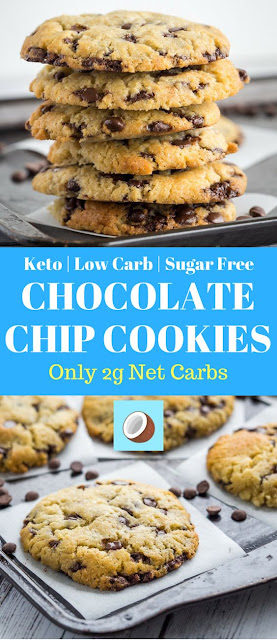 KETO CHOCOLATE CHIP COOKIES – BEST LOW CARB SUPER SOFT COOKIES