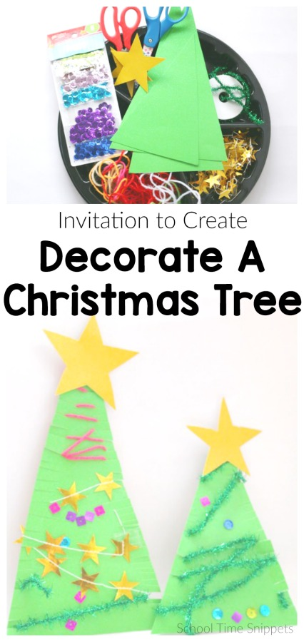 Decorate A Christmas Tree Craft for Kids