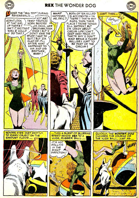 Adventures of Rex the Wonder Dog v1 #3 dc 1950s golden age comic book page art by Alex Toth