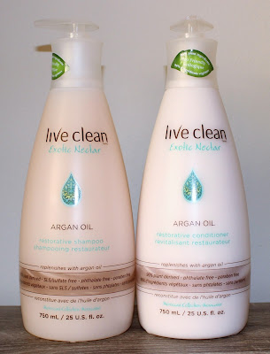 Live Clean Exotic Nectar Argan Oil Restorative Shampoo & Conditioner
