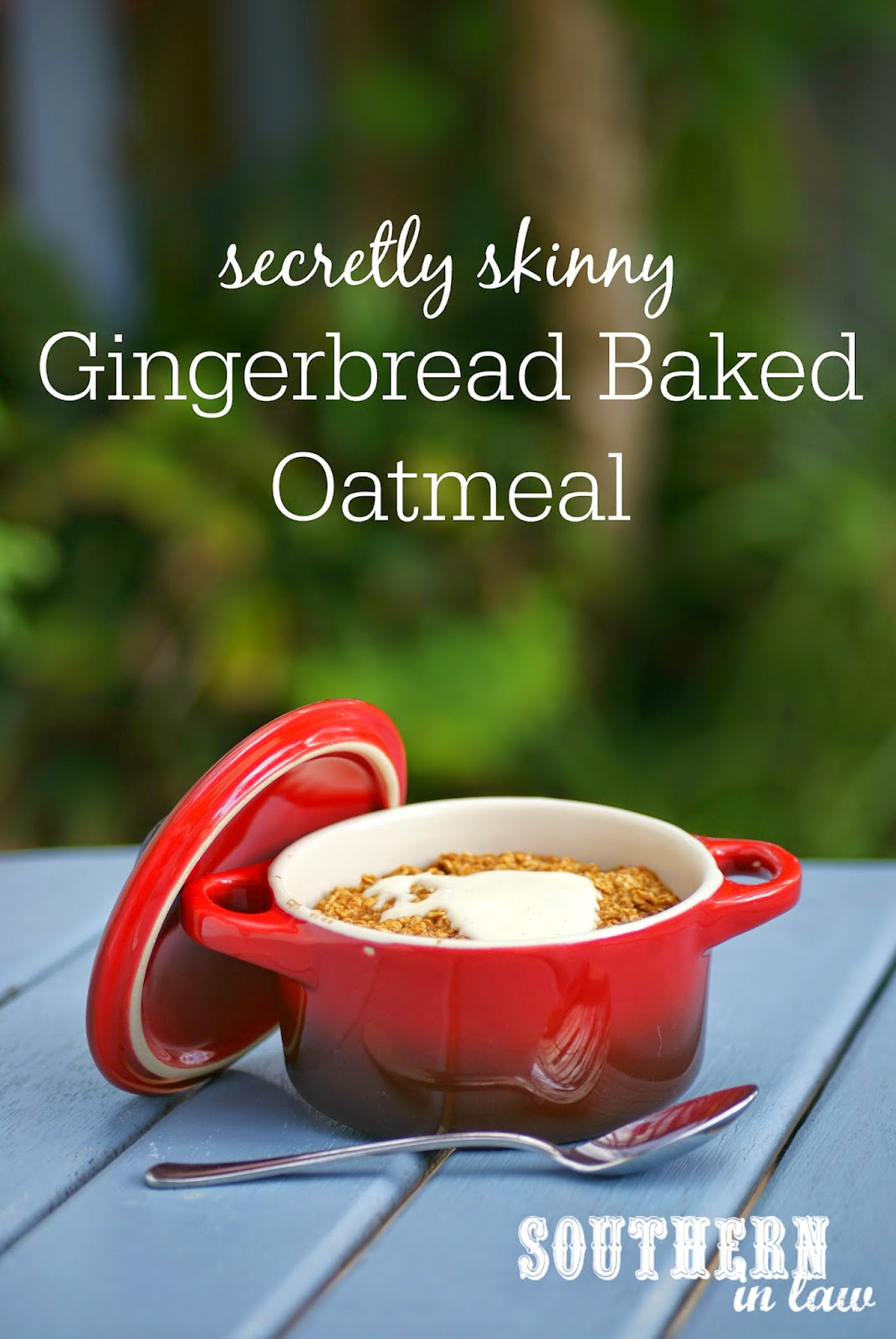 Healthy Gingerbread Baked Oatmeal Recipe - low fat, low sugar, gluten free, vegan, healthy, single serve, single serving, egg free