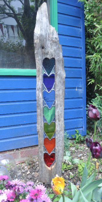 Best of the best my dream garden ideas for How to make stained glass in driftwood