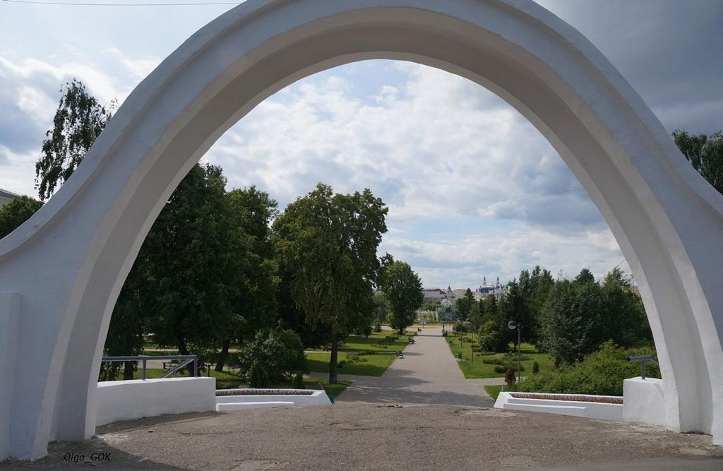 Красивые входы в парк
