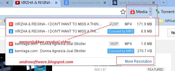 gambar cara download video youtube dengan spark