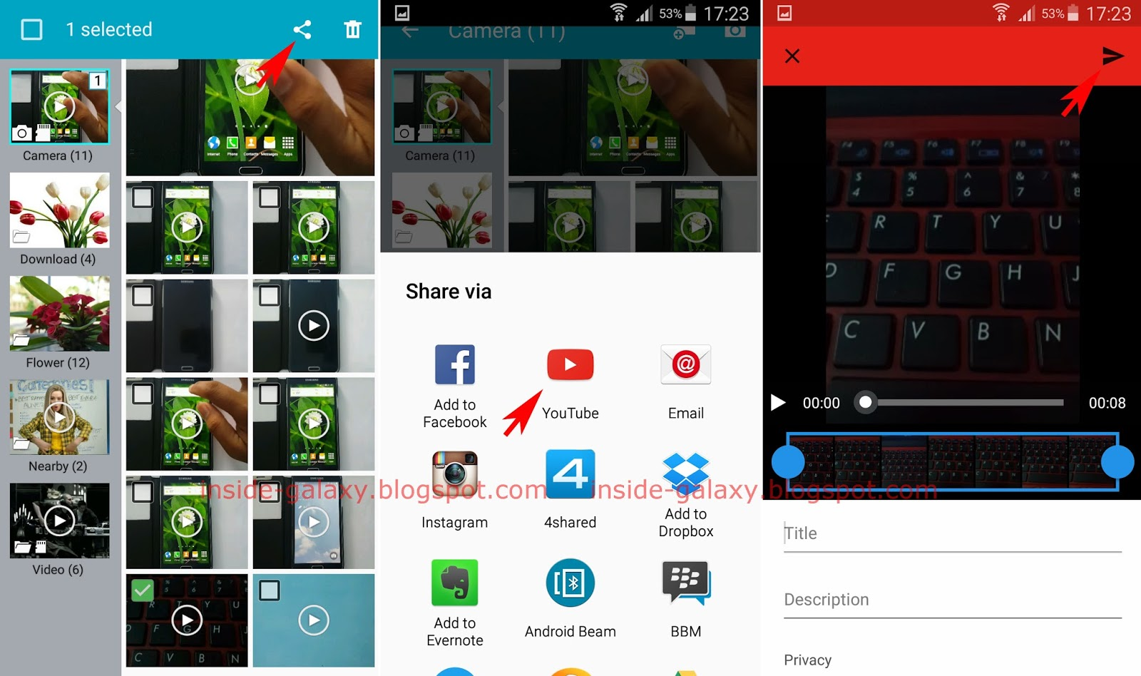 Samsung Galaxy S4: How to Upload a Video to Youtube From Gallery or