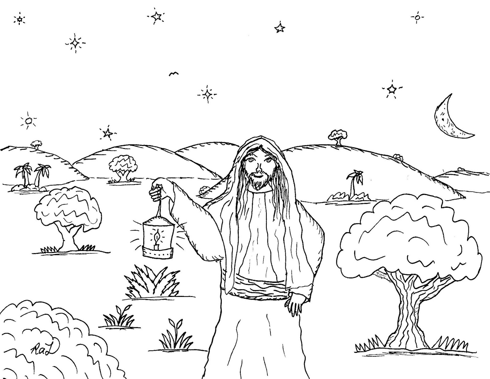 Robin\'s Great Coloring Pages: Jesus is the Light of the World
