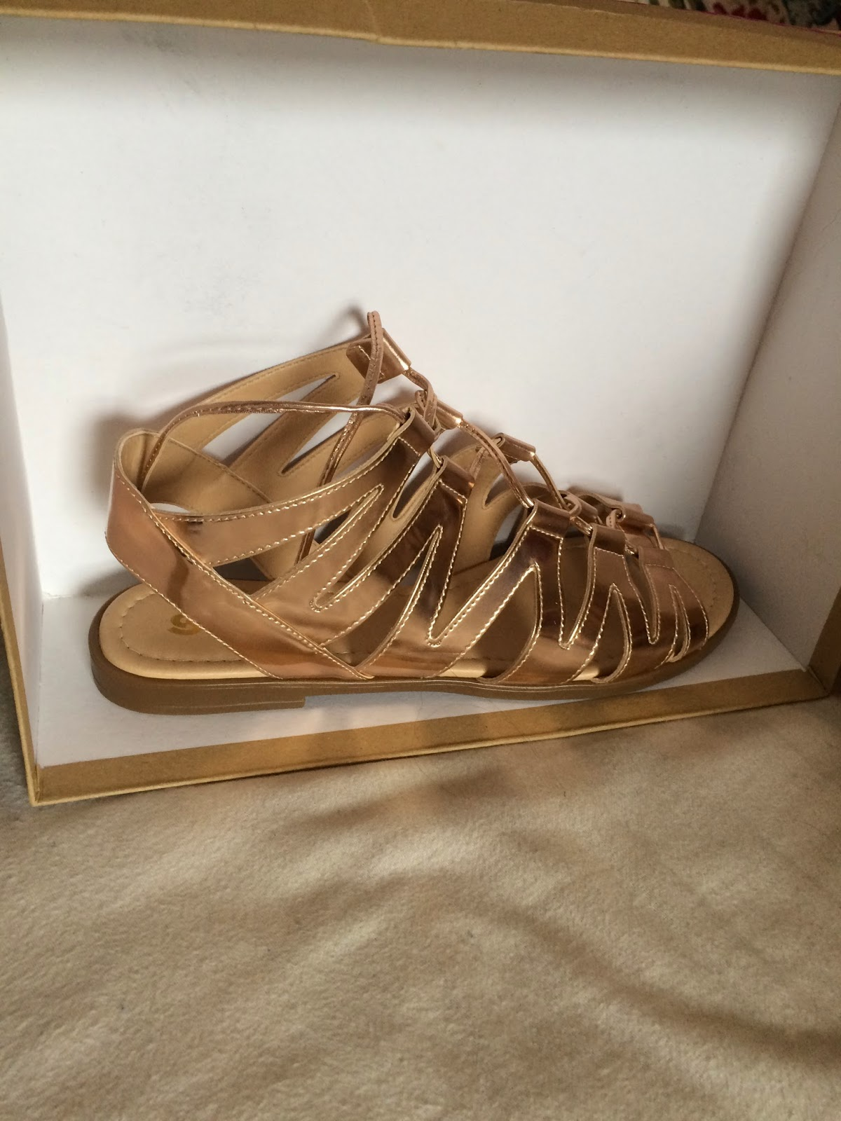 Schuh Gladiator Sandals Bronze