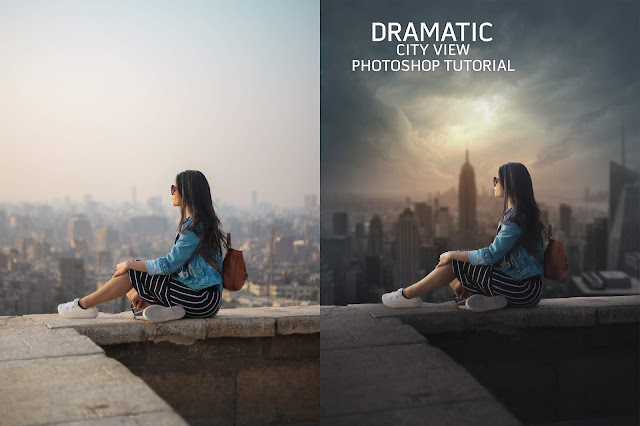 Dramatic City View | Photoshop Manupulation Tutorial | PhotoshopCC