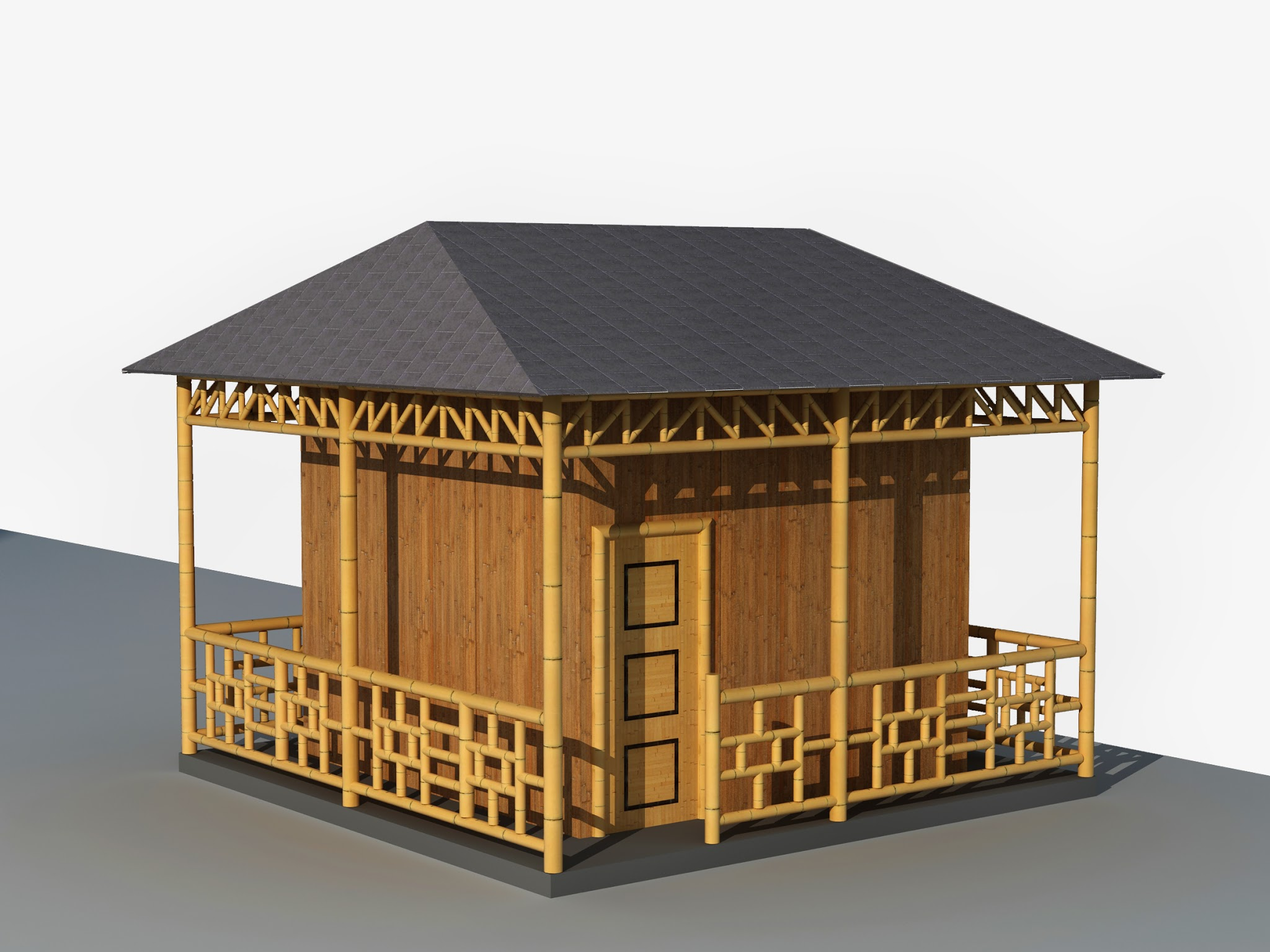 The usual problems of nipa houses are the roofings storms and typhoons could easily break down and take off the roof but this modern bamboo house adapted