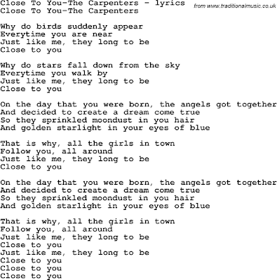 The Carpenters - Close To You Lyrics | MetroLyrics