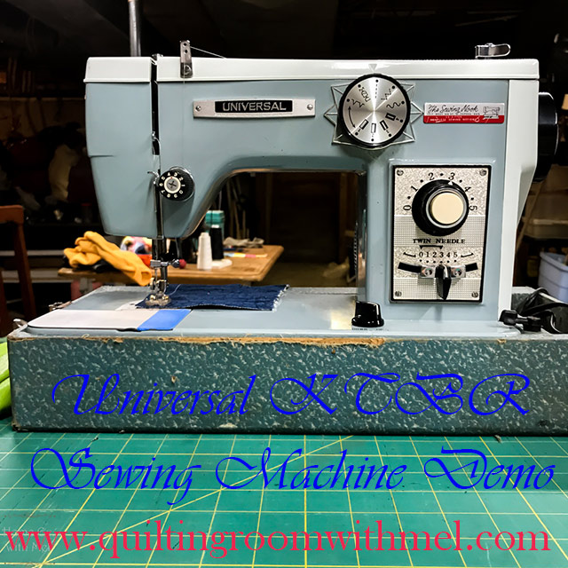 universal ktbr sewing machine demo