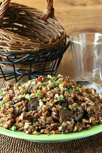 Slow Cooker Wild Rice with Pecans
