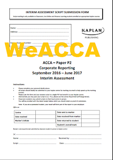 ACCA P2 September 2016 to June 2017 Interim Assessment Questions + Answer Free, ACCA P2 Kaplan Mock 2017 Free