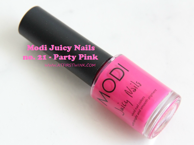 Review: Modi Juicy Nails no. 21 - Party Pink