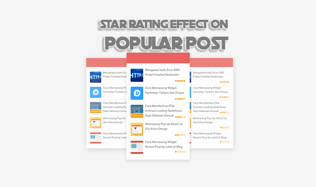 Give Star Rating Effects on Popular Post with Font Awesome