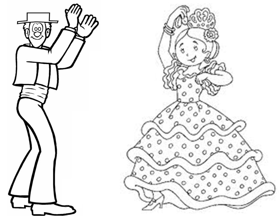 Laminas De Atracciones De Feria Para Pintar: Dibujos De La Feria. Feria Dibujos Para Colorear. Feria