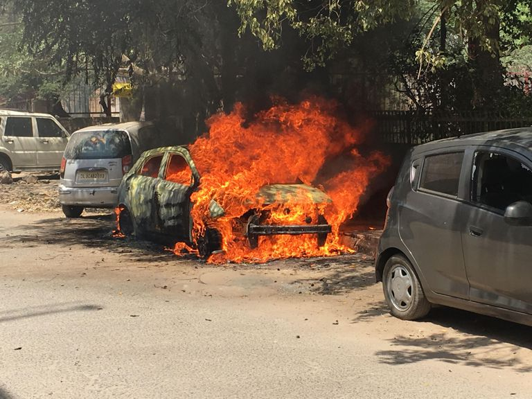 "This weekend was a nightmare for 33-year-old media professional Mukund Prabhakar, because his new car – a one-year-old Hyundai i20 Elite Sportz – went up in flames where it was parked. Mukund, who works for multinational media and communication agency Dentsu Aegis Network, recounts his ordeal. ""I got home early from work around 6 pm on Friday, and parked the car at the nearest possible location from my residence. On Saturday, around 2 pm, the person who washes my car called me to say that my car was in flames. When I reached the spot, a big crowd had gathered, including the police. Within minutes, firemen rushed to spot and put out the flames with water, leaving behind a junk heap of ashes."""