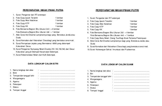 Download N1 N2 N3 Dan N4 Persyaratan Untuk Nikah Portal