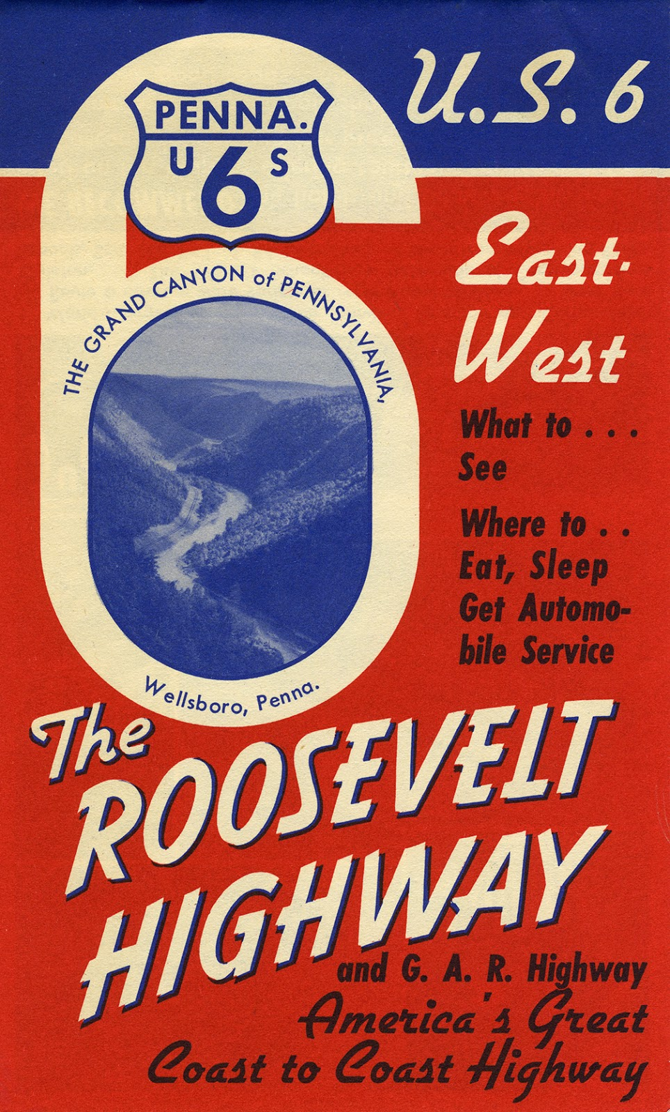 Roosevelt Highway brochure cover - date unknown