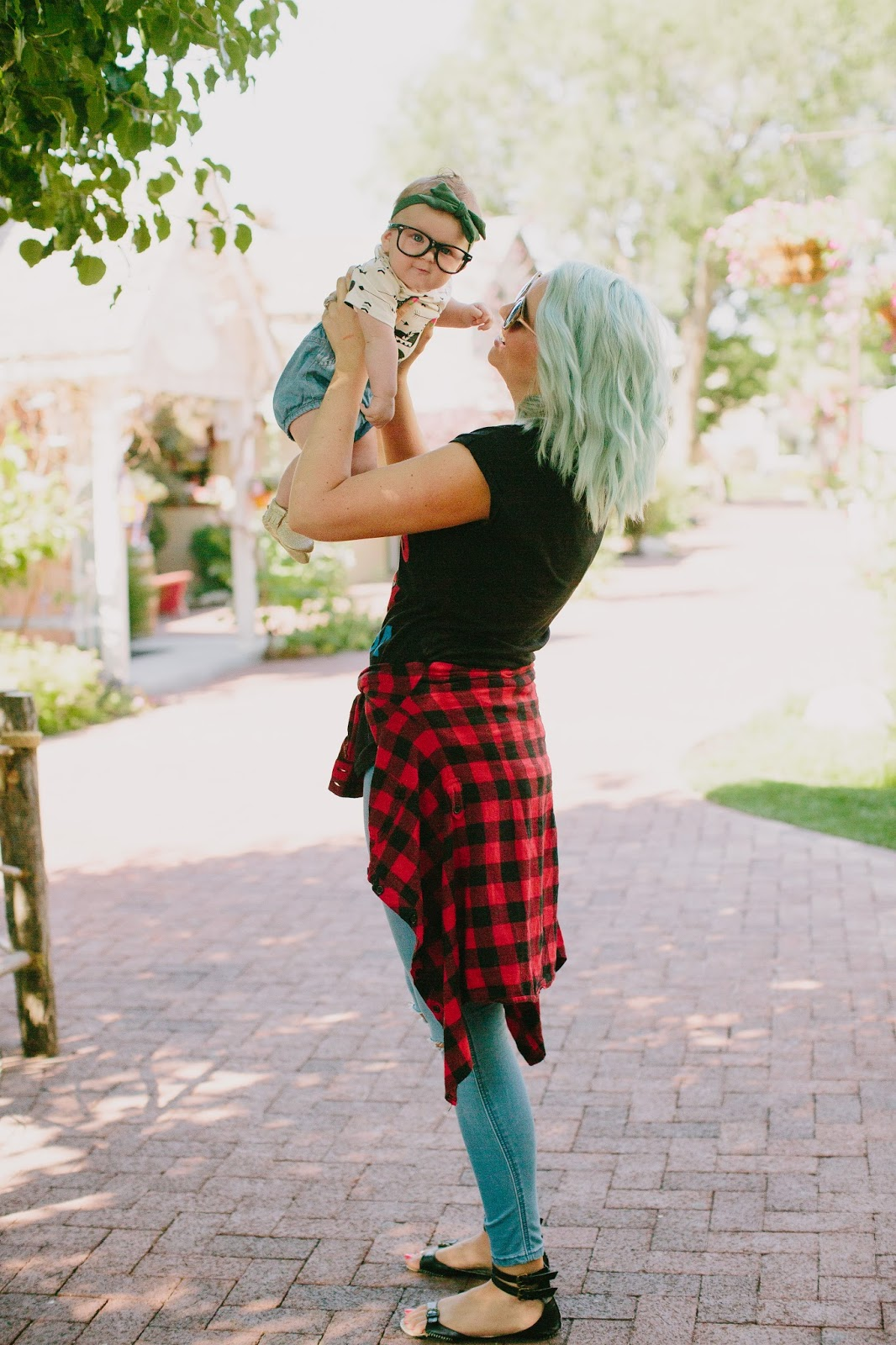 Plaid Shirt, Mommy and Me, Fashion Blogger