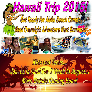 Aloha Beach Camp's Maui Summer Camp Overnight Adventure Camp Flyer