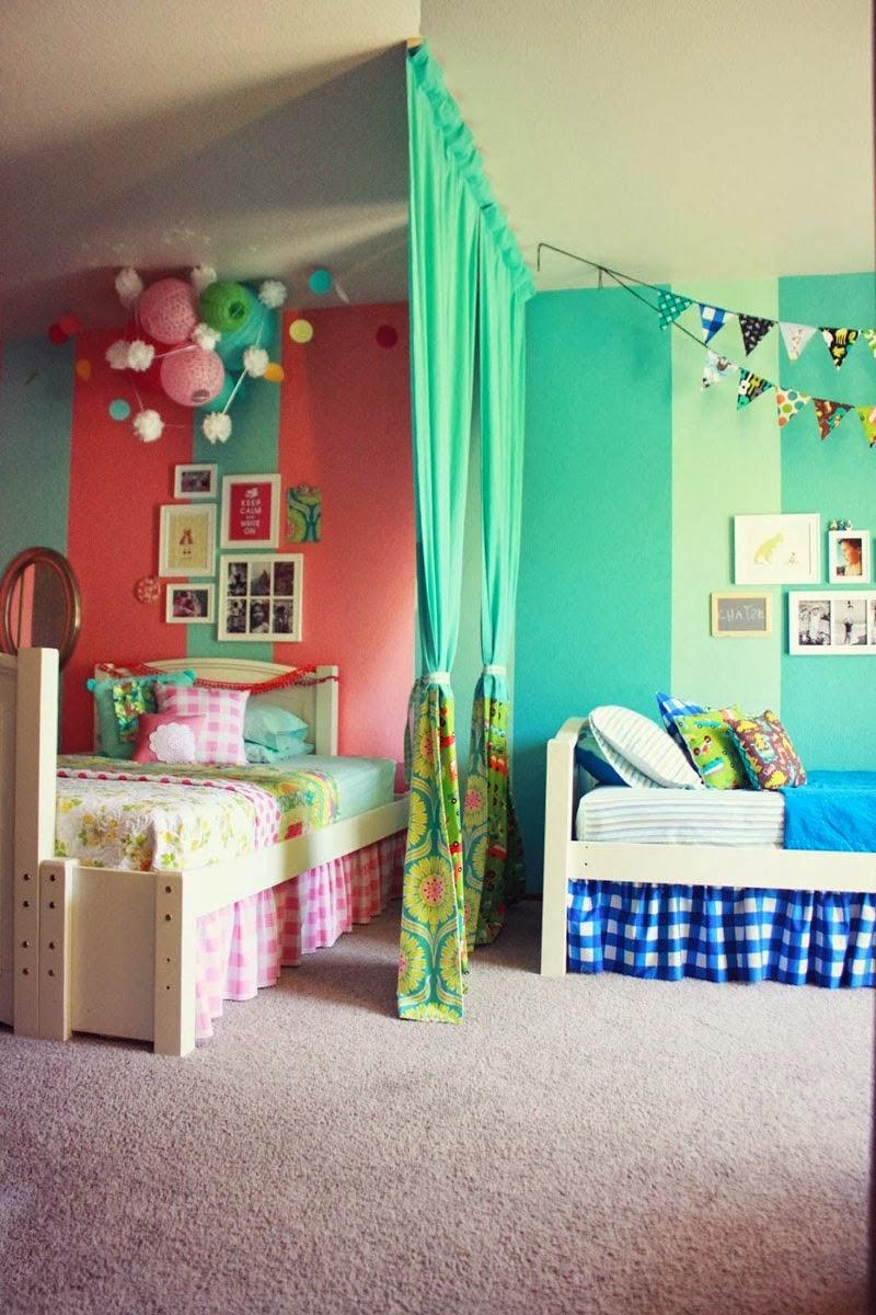 dormitorio para niño y niña