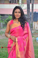 Actress Risha Pos in Pink Silk Saree at Saravanan Irukka Bayamaen Tamil Movie Press Meet  0006.jpg
