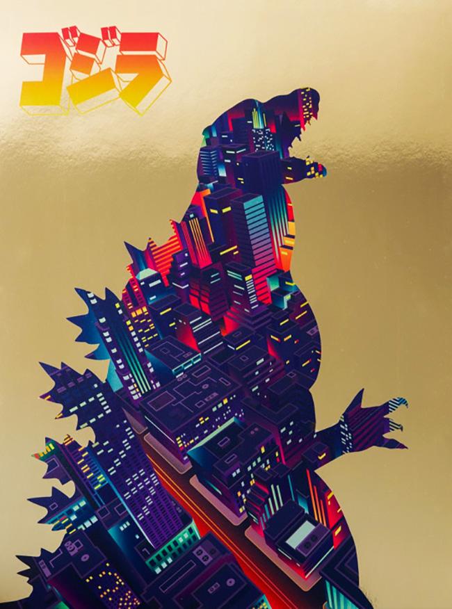 Andy Hau (UK) - Godzilla poster