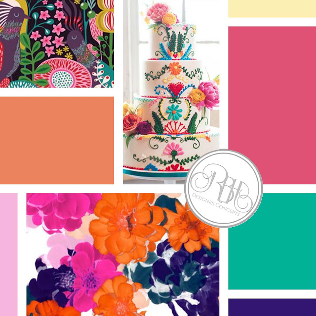bright color inspiration boho wedding design watercolour by rbhdesignerconcepts