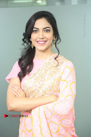 Actress Ritu Varma Pos in Beautiful Pink Anarkali Dress at at Keshava Movie Interview .COM 0072.JPG