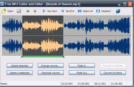 """برنامج تقطيع وتحرير ملفات ام بي ثري """" Free MP3 Cutter and Editor"""""""