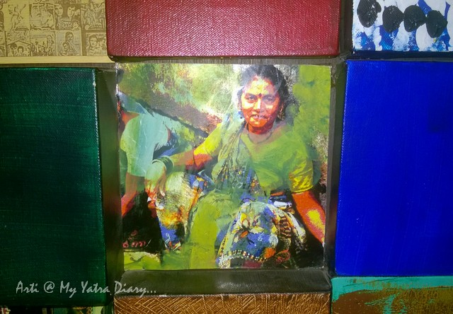 An image in art collage at Mumbai Chhatrapati Shivaji Domestic Airport, Terminal 1A