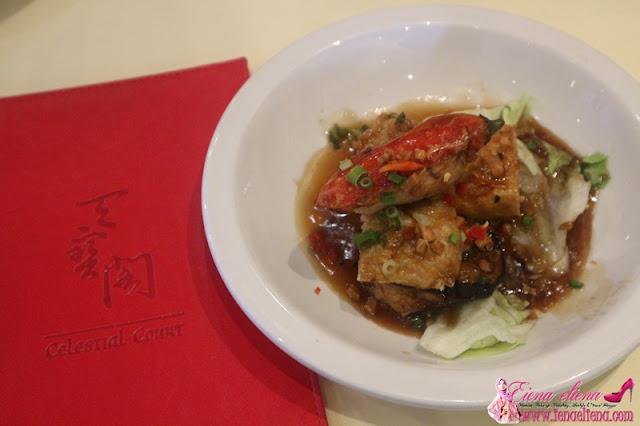 "Combination of stuffed ""Yong Tou Foo"" with black Bean Sauce"