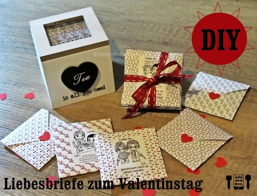 mommobil diy geschenke zum valentinstag basteln liebesbriefe teebeutel f r ihn. Black Bedroom Furniture Sets. Home Design Ideas