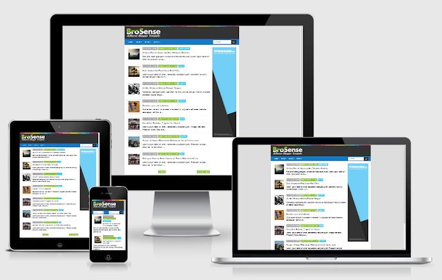 BroSense V2 Responsive Blogger Template