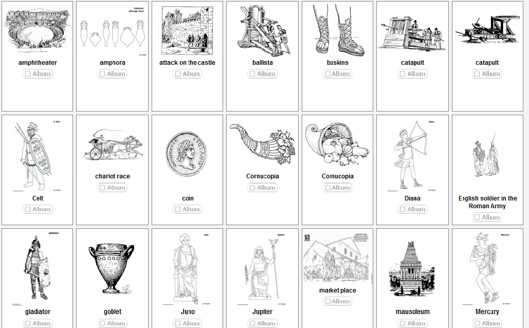 AS THE ROMANS DO Roman Colouring pages