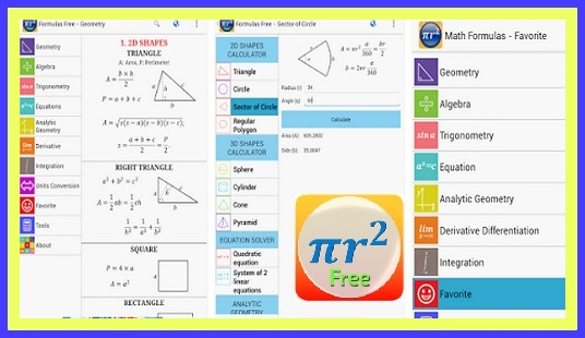Aplikasi Penghitung Rumus Matematika,Kimia, Fisika Lengkap