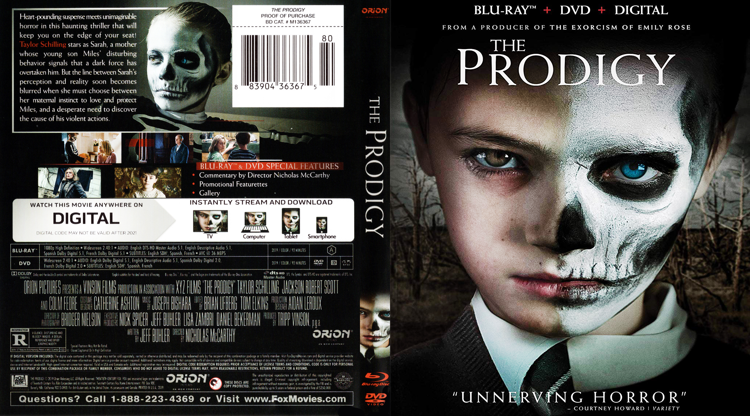 The Prodigy Bluray Cover | Cover Addict - Free DVD, Bluray ...