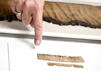 Antiguo rollo de papiro encontrados con mención Hebrea más antigua de Jerusalén