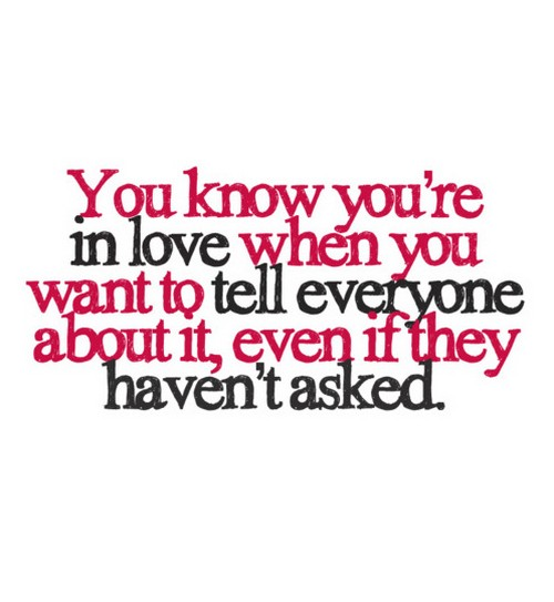 You Know You Re In Love When Quotes: Love Quotes When You Know It S. QuotesGram