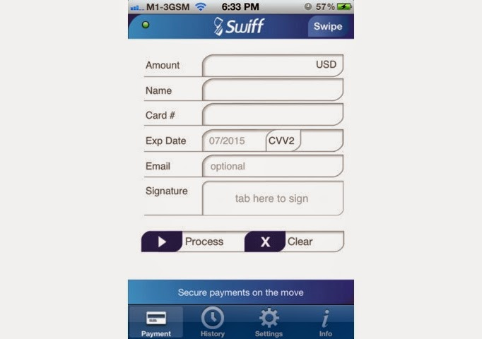 Swiff Account Mobile Screen