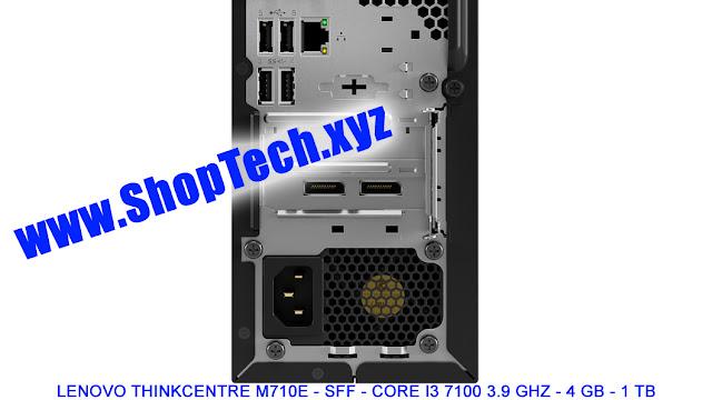 LENOVO THINKCENTRE M710E - SFF - CORE I3 7100 3.9 GHZ - 4 GB - 1 TB - RJO Ventures, Inc. - #ShopTechxyz