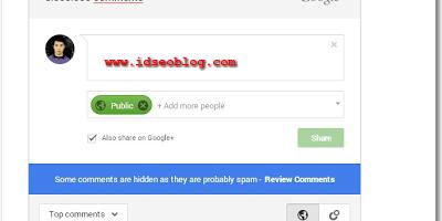 Cara Memasang widget Form komentar Google plus di Blogger