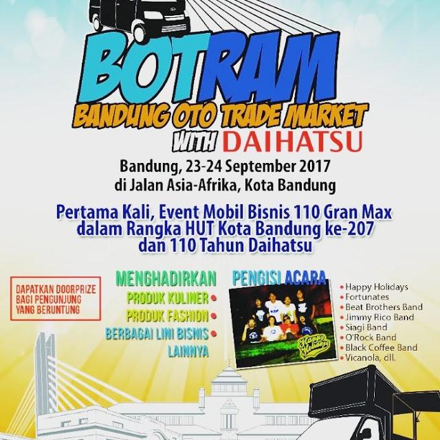 HUT ke-207 Kota Bandung, Ribuan Pengunjung Padati Acara Bandung Oto Trade Market (Botram) Daihatsu