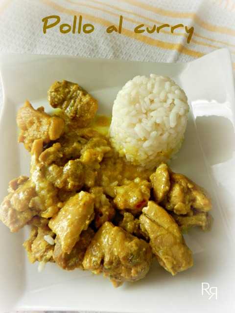 """Pollo al curry-Receta exprés"""