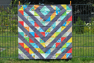 hst baby quilt half square triangle bungle jungle
