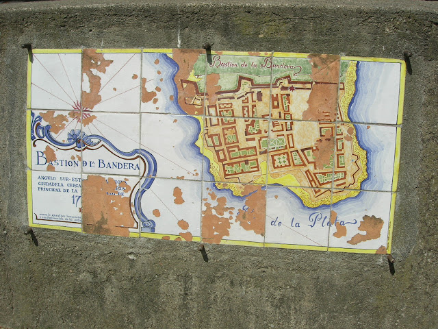 Mapa da Antiga Cidade - Colonia del Sacramento - Uruguai - Rio da Prata