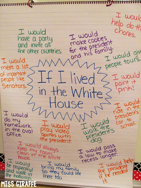 If I Lived in the White House anchor chart and other fun Presidents Day activities and ideas