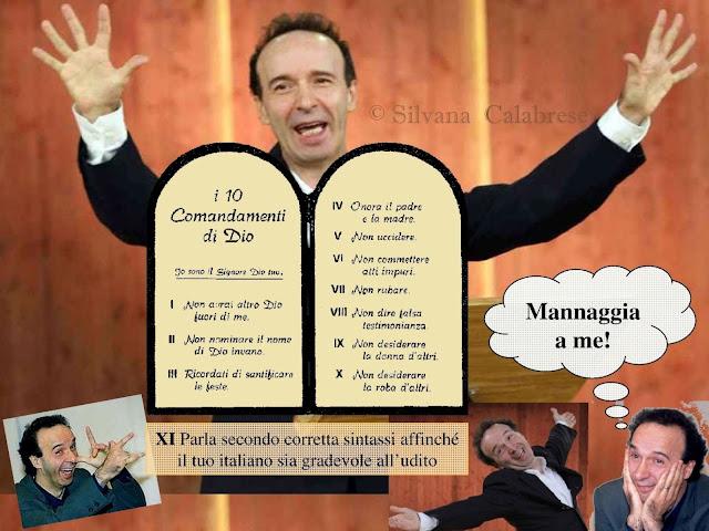 Benigni Roberto dieci comandamenti grammatica italiana Silvana Calabrese Blog